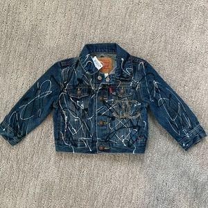 Levi painted denim jacket, 12 months NWT